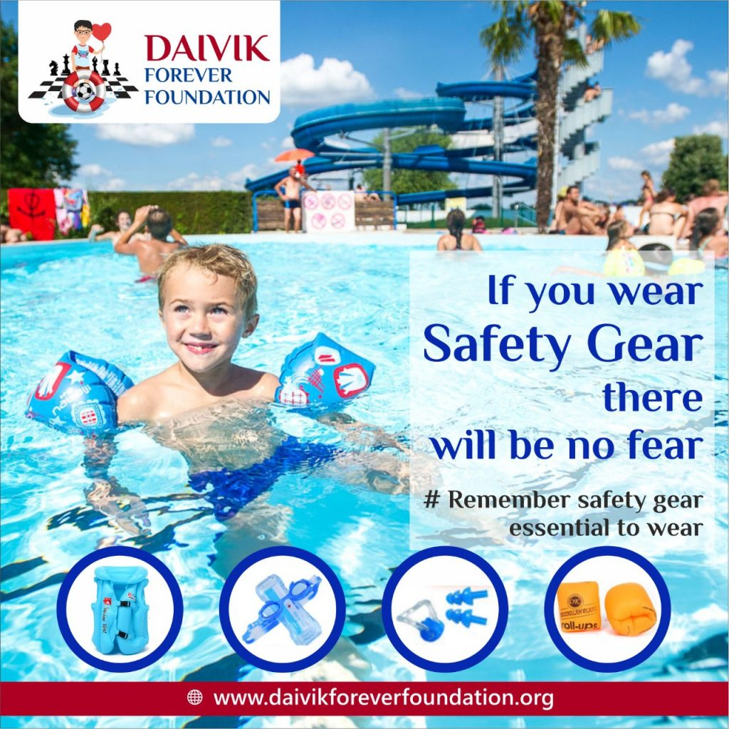 Safety Gears : Essential for children while swimming